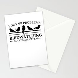 Bird watcher Funny product Gift 99 Problems Birdwatching Stationery Cards