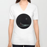 chill V-neck T-shirts featuring Space Chill by nicebleed