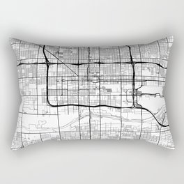 Phoenix Map White Rectangular Pillow
