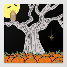 On A Very  Scary #Halloween Night Canvas Print