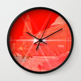SquaRed: Hands Up! Wall Clock