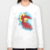 phoenix Long Sleeve T-shirts featuring Phoenix by missfortunetattoo
