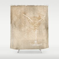cocktail Shower Curtains featuring Cocktail hour by Wendy Townrow