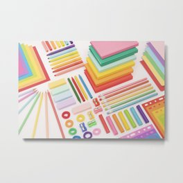Rainbow office Metal Print