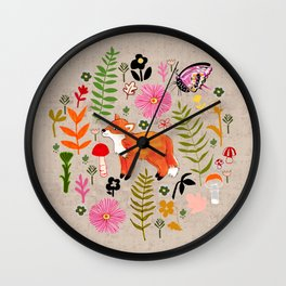 Woodland Fox Wall Clock