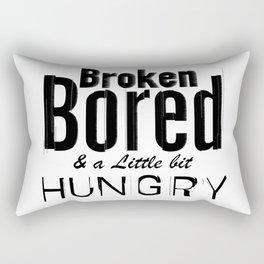 Broken, Bored & a Little Bit Hungry - by Fanitsa Petrou Rectangular Pillow