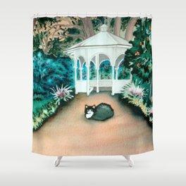 Gazebo Cat Shower Curtain