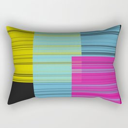Block Color Transparancy Rectangular Pillow