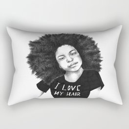 I love my hair Rectangular Pillow