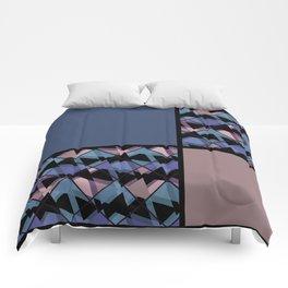 Blue brown patchwork Comforters