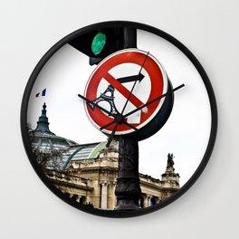 Travel in Paris Wall Clock