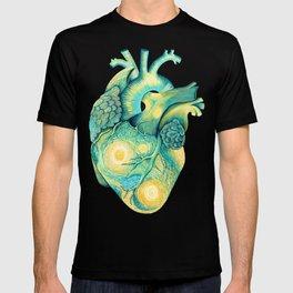 Anatomical Human Heart - Starry Night Inspired T-shirt
