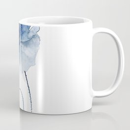 Blue Watercolor Poppies #2 Coffee Mug