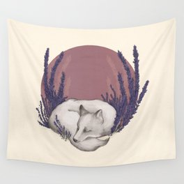 Fox & Lavender Wall Tapestry
