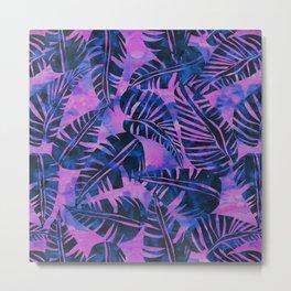 Lani Kai Leaf Purple Metal Print