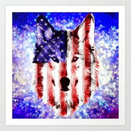 wolf USA Art Print