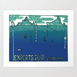 EXPORTS 2018 Art Print