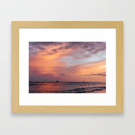 Cotten Candy Sunset Framed Art Print