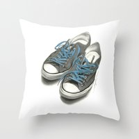 converse Throw Pillows featuring Converse by Anthony Billings