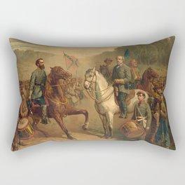 The last meeting between Gen. Lee and Jackson Rectangular Pillow