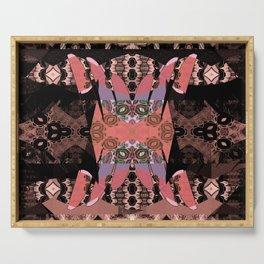 Tibetan Neo Shamanic Neotraditional Meditation Tapestry Serving Tray