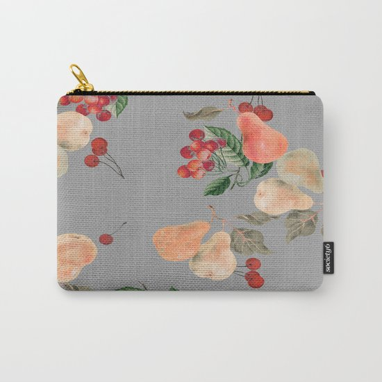 cherries and pears winter Carry-All Pouch