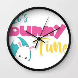Easter Quotes It's Bunny Time Wall Clock