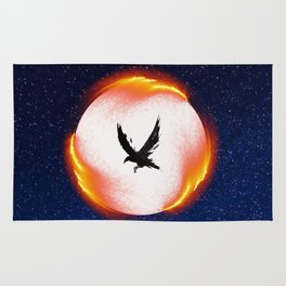 The Head is too Wise The Heart is All Fire | Raven Cycle Design Rug