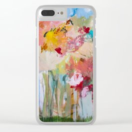 Spring Bloom Flower's Garden Abstract Contemporary Original Art Clear iPhone Case