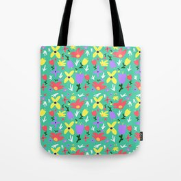Bright Little Green Spring Handmade Pattern Tote Bag