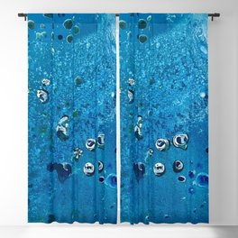 Deep Sea Creatures Dream of Blue Blackout Curtain