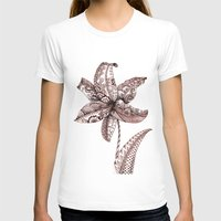 henna T-shirts featuring Henna Lily by Elisa Camera