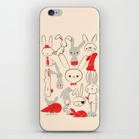 bunnies iPhone & iPod Skins featuring Bunnies by Jay Fleck