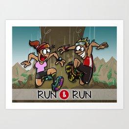 Run & Run Art Print