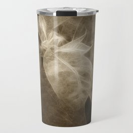 Mottled Red Poinsettia 2 Antiqued Travel Mug