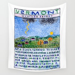 Vermont Weather Report Wall Tapestry