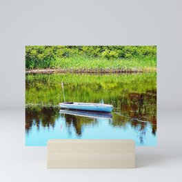Boat on the Pond Mini Art Print