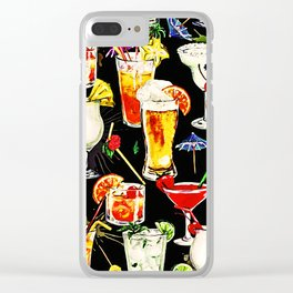 Cocktail Hour in the Tropics Clear iPhone Case