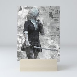 Swordmaster I Mono Mini Art Print