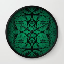 Green cracked wall Wall Clock