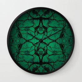 Green cracked wall Wall Clock