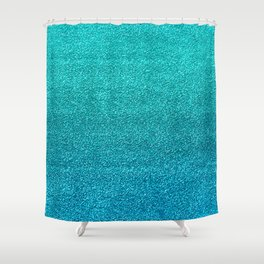 Faux Glitter Shower Curtain
