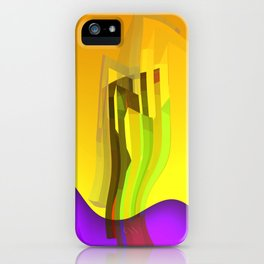 orange and yellow glass iPhone Case