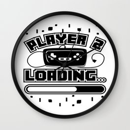 Player 2 Loading Baby Announcement Pregnancy Gift Wall Clock