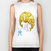 pisces Biker Tanks featuring Pisces by Aloke Design