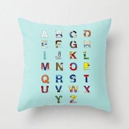 VGC alphabet Throw Pillow