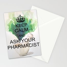 Keep Calm And Ask Your Pharmacist Stationery Cards