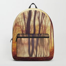 the art of falling apart - abstract trees in morning light Backpack