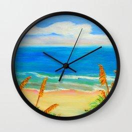 Sea Oat Path Wall Clock