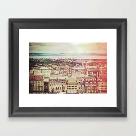 Edinburgh Love Framed Art Print